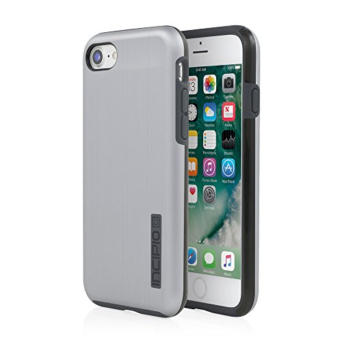 iPhone 7 Case, Incipio DualPro SHINE Case [Shock Absorbing] Cover fits Apple iPhone 7 - Space (Brushed Aluminum Case)
