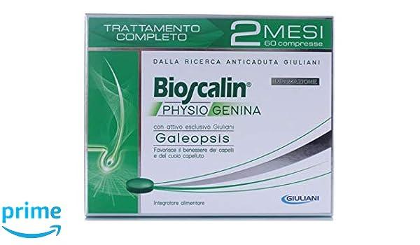 Suplementos antiacaída de cabello para hombre Bioscalin Physiogenina, 2 paquetes de 30 comprimidos cada uno: Amazon.es: Belleza