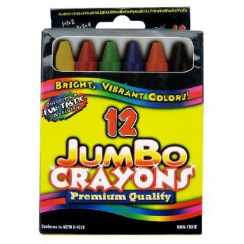 Crayons - Jumbo assorted colors - 12 ct 48 pcs sku# 92917MA by DDI