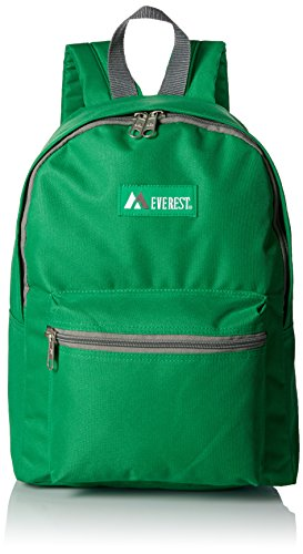 (Everest Basic Backpack, Emerald Green, One)