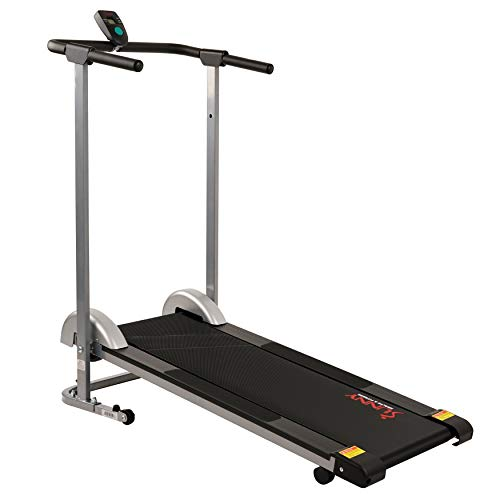 Sunny Health & Fitness SF-T1407M Manual Walking Treadmill, Gray by Sunny Health & Fitness