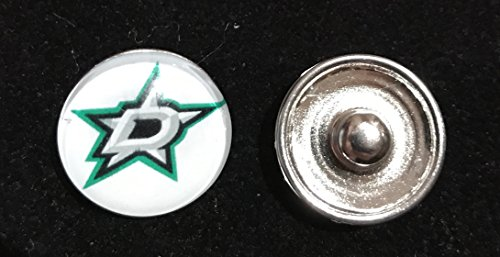 Dallas Stars NHL Snap Ginger Button Jewelry for Jackets, Bracelets & -