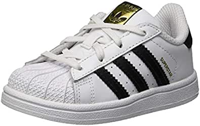 adidas Originals Superstar I White/Black Leather 4 M US Infant