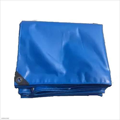 Plane Persenning Dickes Wasserdichtes 420g   m² Regen-Sonnenschutzmittel-Blaue Segeltuch Freien 0.32mm