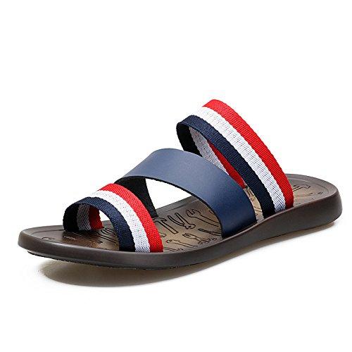 De Zapatillas Transpirables Verano Frescas Cómodas Nuevas Playa Para Cuero Casual Y De Las blue Sandalias Xiaolong Para Hombre De Hombres 2018 awpEtt