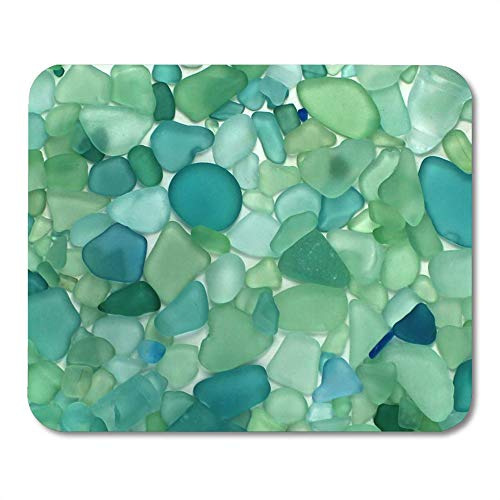 LIminglove Colorful Beachglass Sea Glass Teal Beach Ocean Coastal Nautical Gaming Mouse Pad,Non-Slip and Dust-Proof Mouse,Funny Creative Mouse pad