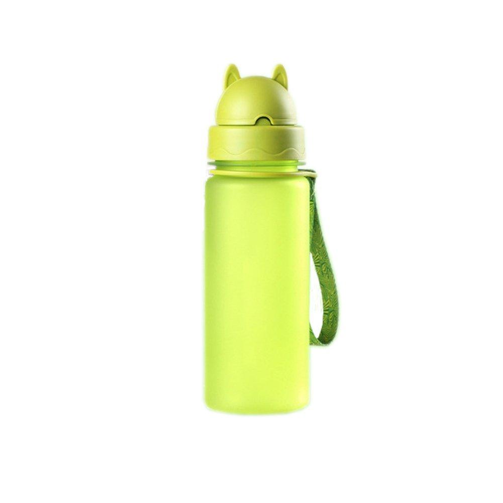 Correr bicicleta y actividades al aire libre Deportes Bid/ón con correa escuela trinkflassche para ni/ños Botella de agua 400/ml pl/ástico Solapa Sin BPA ca/ño botellas seguro para ni/ños