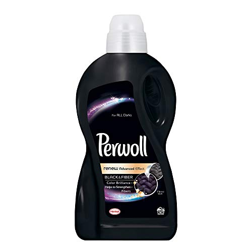 Perwoll Renew Black & Fiber Liquid Laundry Detergent (Black, 1,8 Liters, 30 Loads)