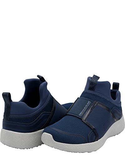 Skechers Navy Pull On Womens Top Sneakers Low Fabric Burst Fashion rqrwz7g