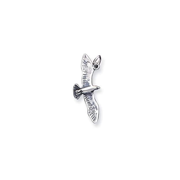 Amazon Goldia Sterling Silver Antiqued Wing Spread Seagull