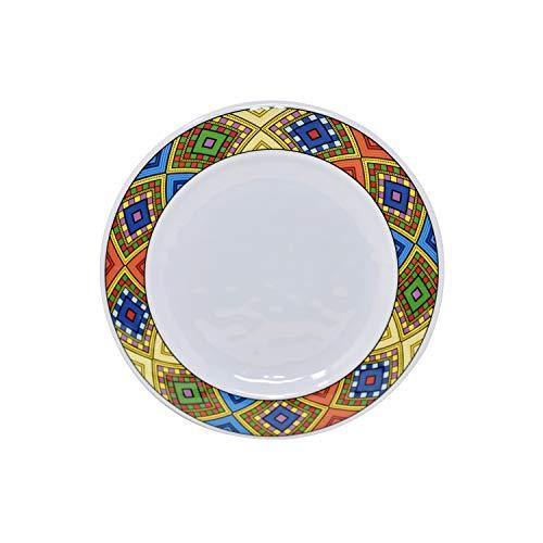 Ethiopian Coffee Ceremony - Ethiopian/Eritrean Dinner Plate, Tílét (ጥለት) Edition 6 Pieces. (Best Melamine)