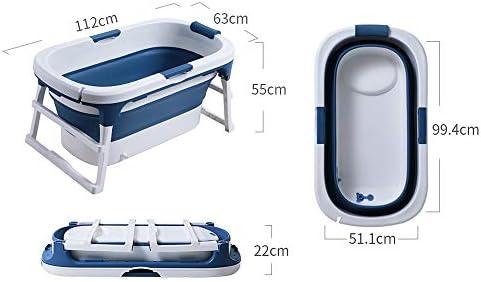 折りたたみ式浴槽滑り止めポータブル浴槽の割れ防止/覆われた大人用浴槽断熱バスタブ浸漬バスタブPP素材子供用浴槽トラベル浴槽全身浴槽-112 * 55 * 63cm