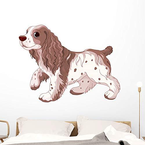 Wallmonkeys Spaniel Dog Wall Decal Peel and Stick Animal Graphics (48 in W x 44 in H) WM497389
