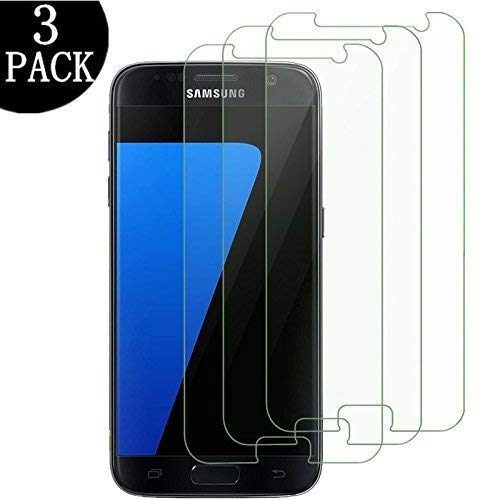 [3 - Pack] Galaxy S7 Tempered Glass Screen Protector,Kayane 9H Hardness,Bubble Free [Ultra-Clear] [Scratch Proof] [Case Friendly] Screen Protector Compatible Samsung Galaxy S7 from EcoPestuGo