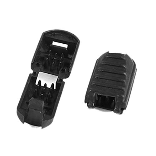 Amazon.com: eDealMax tirador de la cremallera de plástico del Cable de bloqueo DE 5,5 mm x 5,3 mm Termina 20pcs Negro: Home & Kitchen