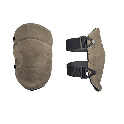 AltaSOFT Grey Suede Leather Knee Pads by Alta Industries B00OQIXU8G