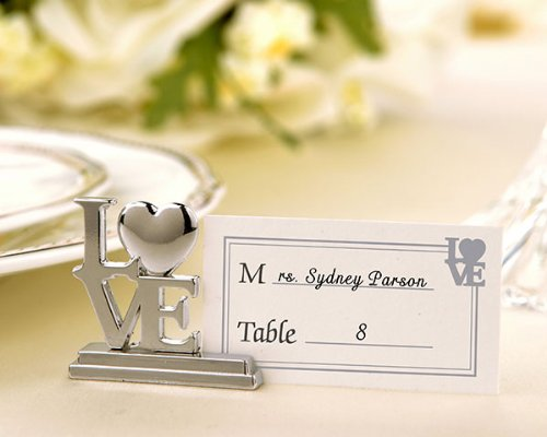 ''LOVE'' Place Card Holder/Photo Holder with Matching Place Cards (Set of 96) - Baby Shower Gifts & Wedding Favors