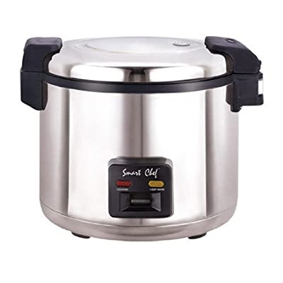 Welbon WRC-1070S 33 Cups Stainless Steel Commercial Rice Cooker with Heavy Duty Non-Stick Inner Pot, ETL & UL, Silver