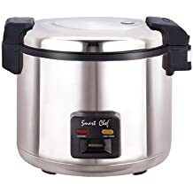 Welbon WRC-1070S 33 Cups Stainless Steel Commercial Rice Cooker with Heavy Duty Non-Stick Inner Pot, ETL & UL,...