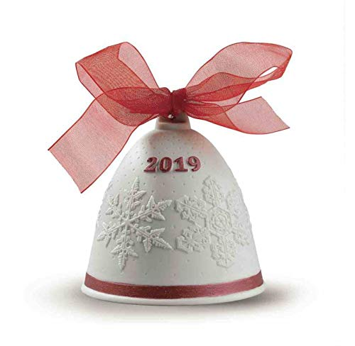 Lladro 2019 Porcelain Red Christmas Bell #8448