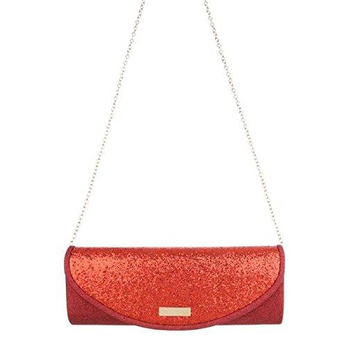 Damen Clutch-red Rot