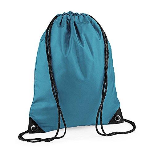 Bagbasis Premium Gymnastikbeutel School Tasche mit Kordelzug, wasserfest, für nasse Set Aqua Blau - Ocean Blue