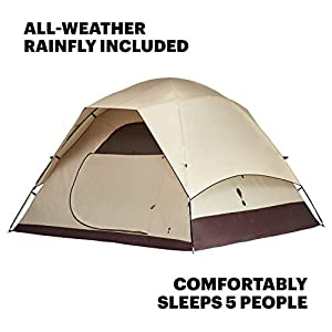 Eureka! Tetragon HD 5-Person, 3-Season Waterproof Camping Tent, Java/Cement (12 Pounds 6 Ounces)