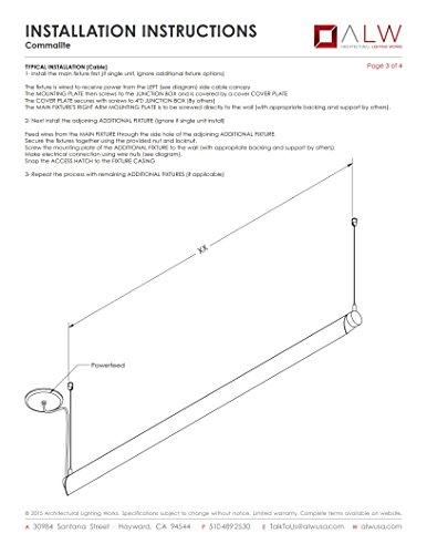 ALW CML 4' LED Pendant, Aluminum Finish, CLEARANCE ITEM by COMMALITE (Image #3)