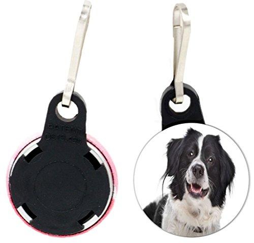 Rikki Knight Border Collie Dog Design 1 inch Zipper Pull Button (set of 4)
