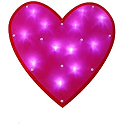 "15"" LED Lighted Pink and Red Valentine's Day Heart Window Silhouette Decoration"
