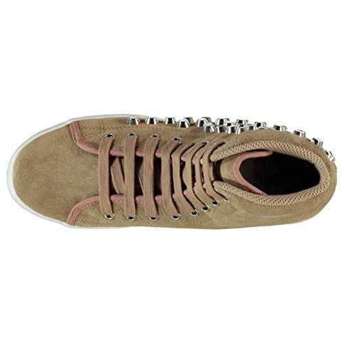 Jeffrey Campbell Play Homg Plattform Shoes Damen Nude/Silber Trainer Sneakers