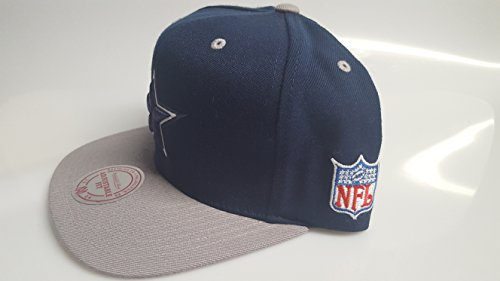 New! Navy & Grey NFL Dallas Cowboys Mitchell & Ness 3D Embroidered Snapback Cap
