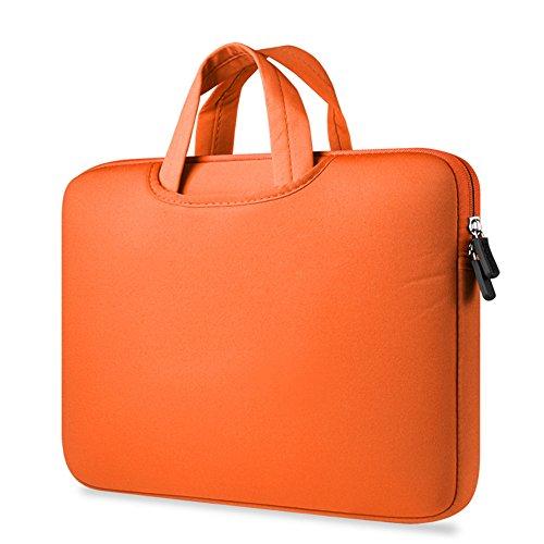 Maletín Para Ordenador Portátil Funda Protectora Maletín Bolso Para Macbook Laptop Orange