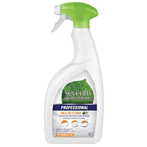 Seventh Generation Professional Tub & Tile Cleaner, Emerald Cypress & Fir Scent, Biodegradable, 32 fl oz (Pack of 8)