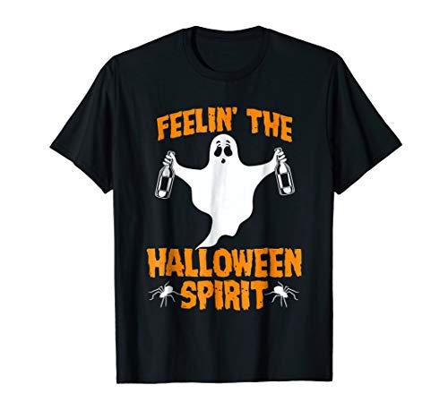 Feelin' The Halloween Spirit Funny Halloween Drinking Shirt