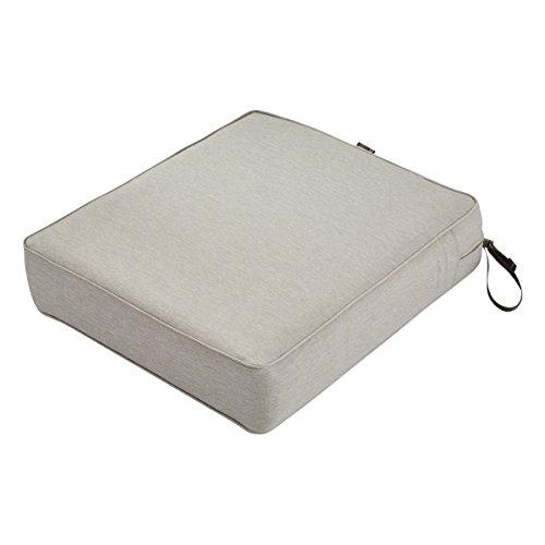 Classic Accessories Montlake Seat Cushion Foam & Slip Cover, Heather Grey, 25x27x5
