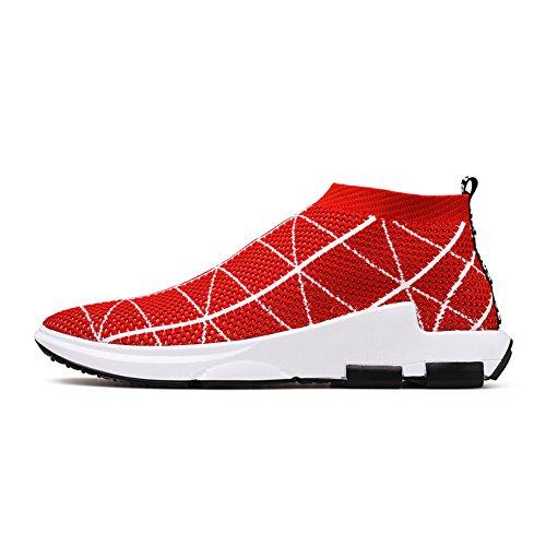 Outdoor Uomo Basse Running Sneakers Tennis Ginnastica Rosso Sportive all'aperto corsa Scarpe Respirabile da Corsa Madaleno ang4TTq