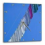 3dRose - Reloj de Pared para Lavandería de la Ciudad Vieja Eu47 Wbi0144, 25,4 x 25,4 cm (PP_82944_1)
