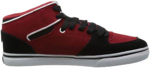 DVS APPAREL Torey - Zapatos de cuero para hombre Negro (Noir (Black/Red Suede))