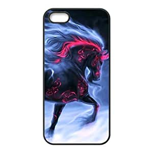Red shiny horse Phone Case for iPhone 5S(TPU)