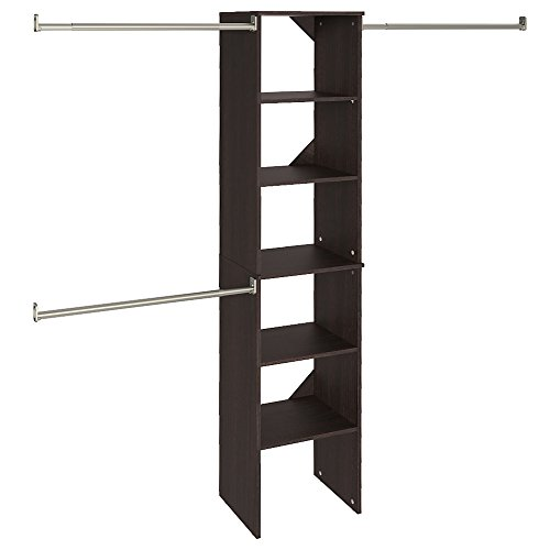 (ClosetMaid 78881 SuiteSymphony 16-Inch Starter Tower Kit, Espresso)