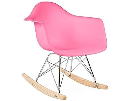 Sedia A Dondolo Rar Eames : Eames rar sedia a dondolo colore: rosa: amazon.it: casa e cucina