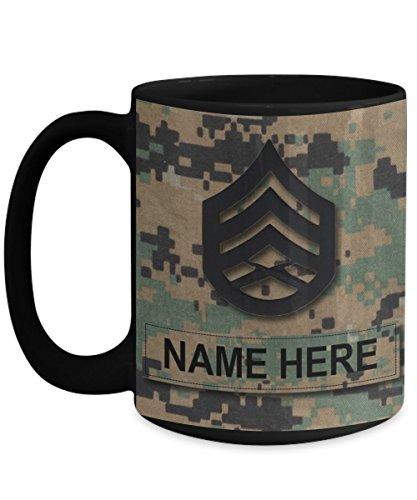 usmc coffee mug black - 2