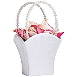 Lillian Rose Elegant Wedding Flower Girl Basket White