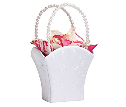Lillian Rose Elegant Wedding Flower Girl Basket White ()