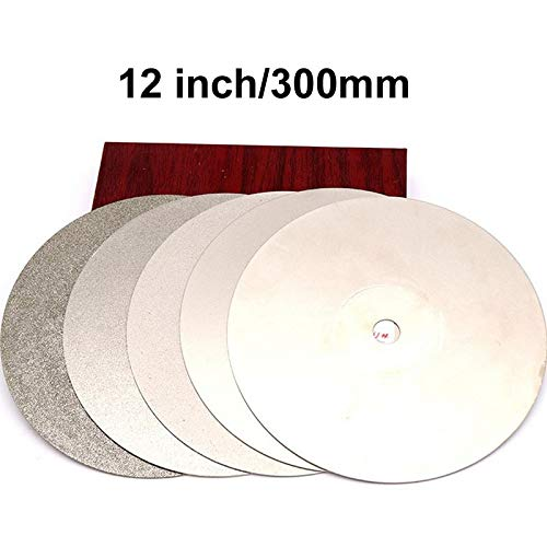 Maslin 300x12.7x1mm 12'' inch Grit 80-2000 Diamond Grinding Disc Abrasive Wheel Coated Flat Lap Disc Jewelry Tools - (Grit: 180, Size: 300X12.7mm)