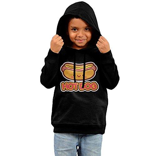 Child Hot Dog Hoodie (Kids Unisex Cute Hot Dog Cotton Hooded Hoodie Sweatshirt 3 Toddler)