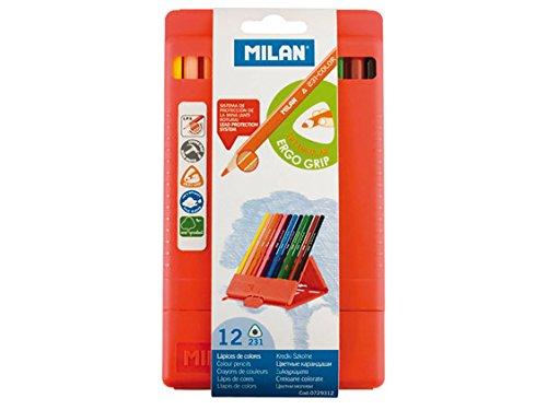 A.C. Milan Flexibox 12 lápices de Colores Triangulares