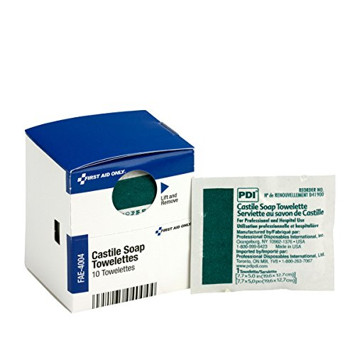 Pac-Kit by First Aid Only Castile Soap Towelette, 10 Count ()