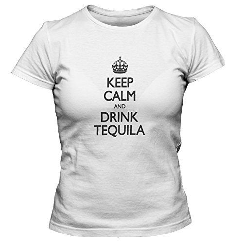 ep Calm And Drink Tequila T-Shirt, White 3XL ()